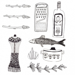 Food drawings I