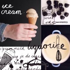 Liquorice ice cream www.studiopolle.nl